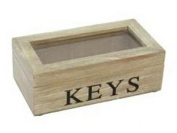 Gisela Graham - Natural Wood Keys Storage Box
